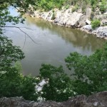 Looking down from Cow Hoof Rock Great Falls