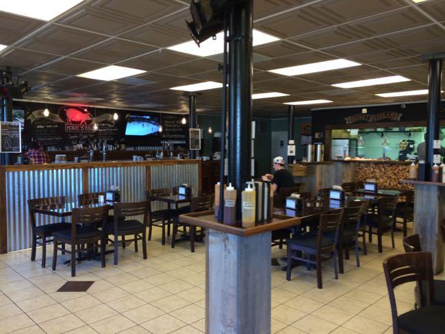Monks BBQ interior in Purcellville VA