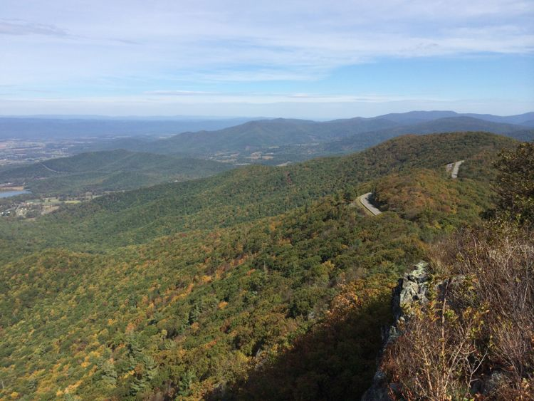 Little Stony Man view in Shenandoah National Park Virginia