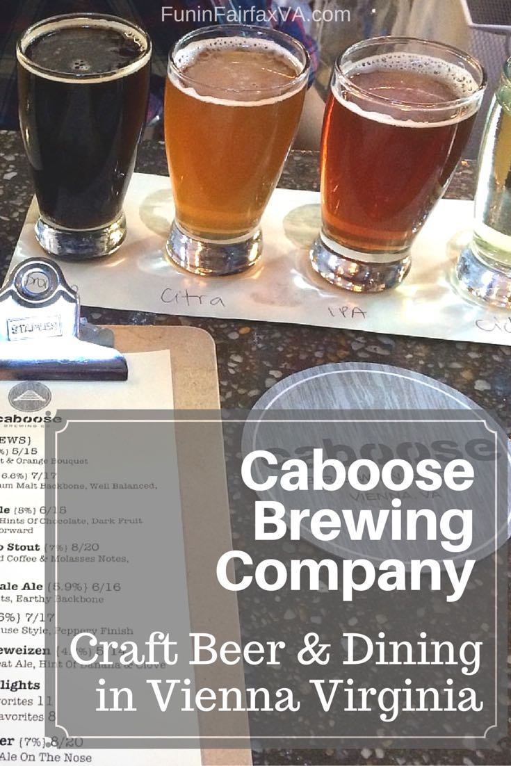 Caboose Brewing Company, next to the W&OD bike trail in Vienna, combines wonderful craft beer with delicious, locally-sourced food in an inviting new space.
