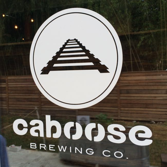 Caboose Brewing door logo