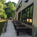Caboose Brewing patio
