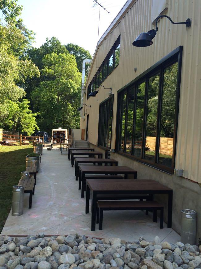 Caboose Brewing patio