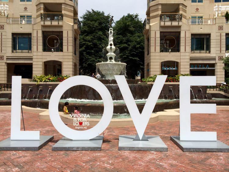LOVE at Reston Town Center Virginia