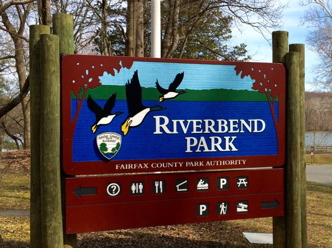 Riverbend Park entrance sign