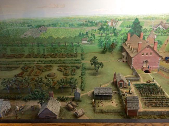 Diorama of Gunston Hall