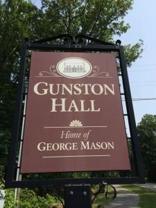 Gunston Hall sign