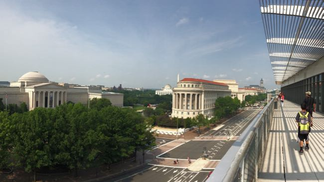 Newseum balcony view