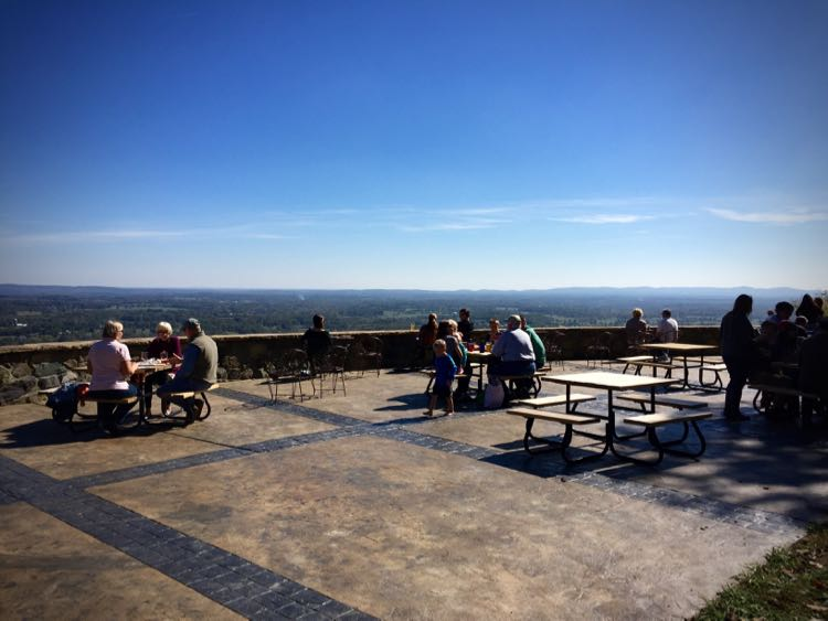 The patio at Dirt Farm Brewing has incredible views of the Virginia Piedmont