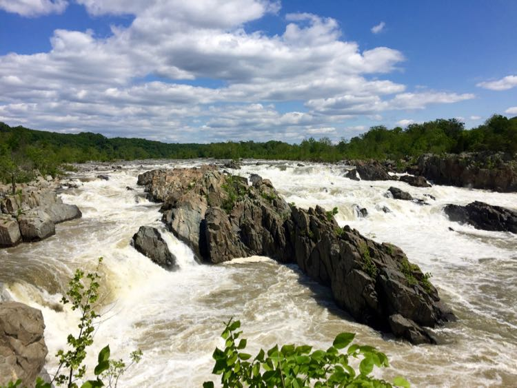 The Great Falls of the Potomac from Overlook 1 in McLean Virginia