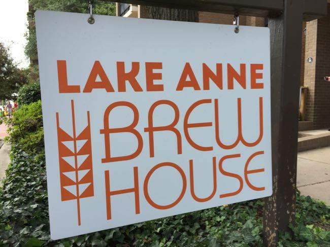 Lake Anne Brew House sign