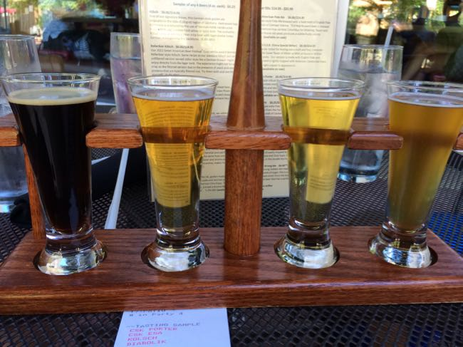 Mad Fox flight on the patio, Falls Church VA