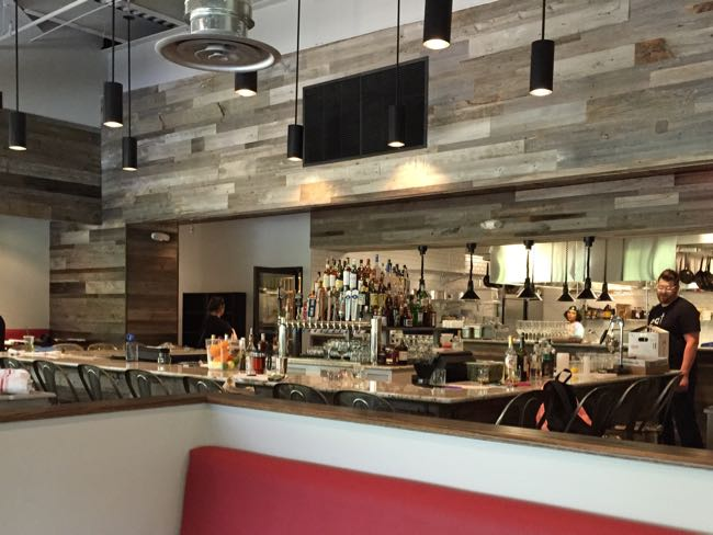 The bar at Red's Table, Reston