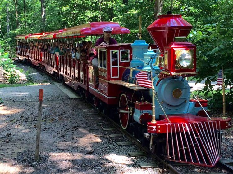 miniature train at Burke Lake Park Virginia