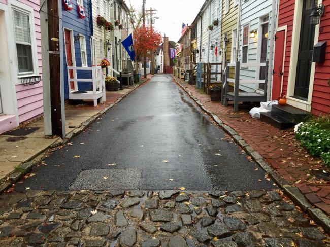 Pinkney St cobblestones Annapolis