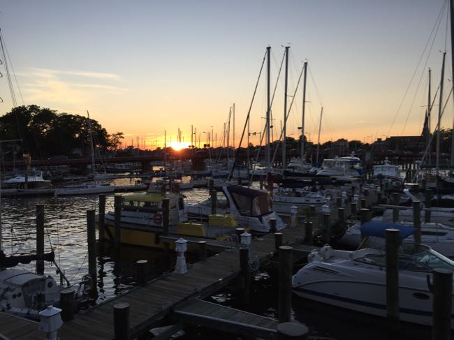 Sunset view Carolls Creek Annapolis