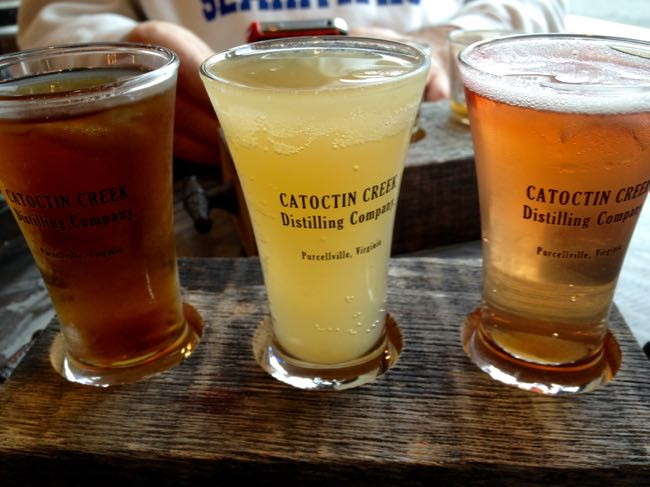 Catoctin Creek tasting flight