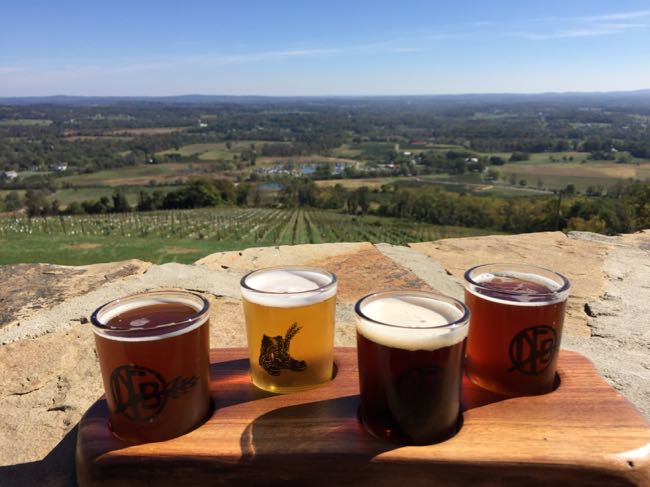 Dirt Farm Brewing tasting with a view