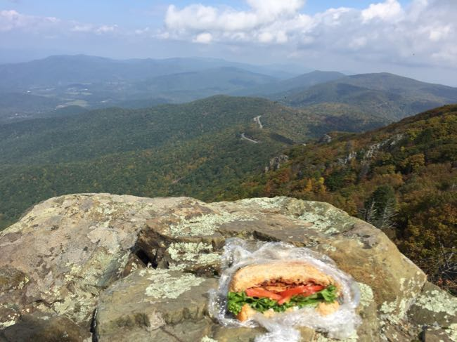 Lunch on Stony Man Shenandoah National Park Virginia