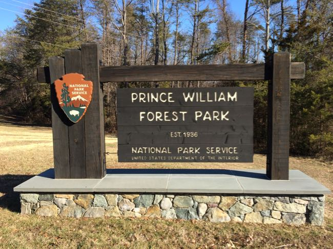 Prince William Forest Park sign