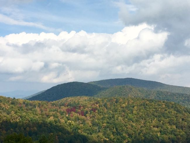 Early October foliage from Skyline Drive
