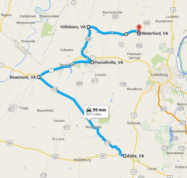 Scenic Drive in Loudoun County map