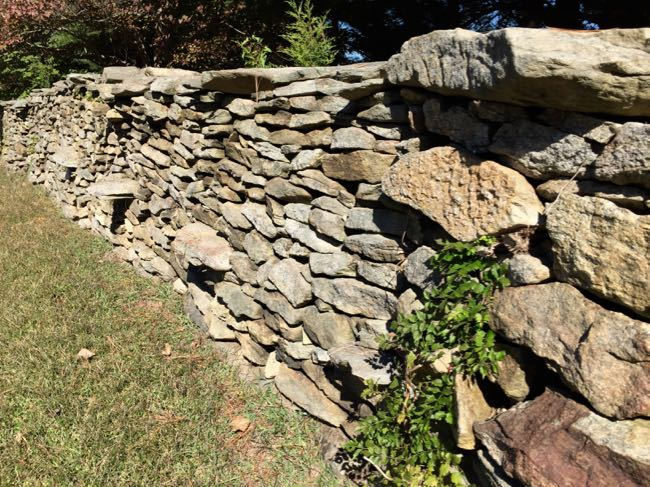 Stone wall Snickersville Turnpike