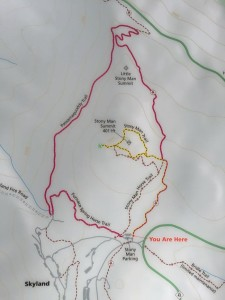 Stony Man trail map Shenandoah