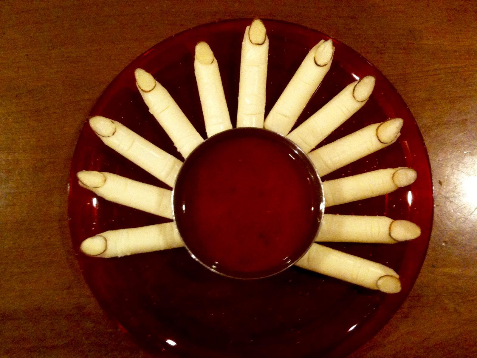 Haloween Fingers appetizer