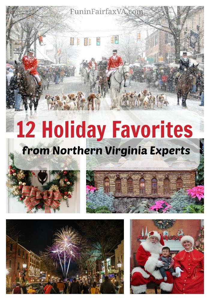 Holiday Things to Do in Virginia, Washington DC. Mid-Atlantic US Travel. These 12 holiday favorites from Northern Virginia experts honor the season with festive parades, unique celebrations, light displays, and visits with Santa.