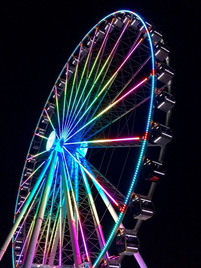 Capital Wheel at night National Harbor