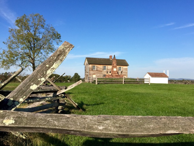 House and Monument on Henry Hill, Manassas Battlefield VA
