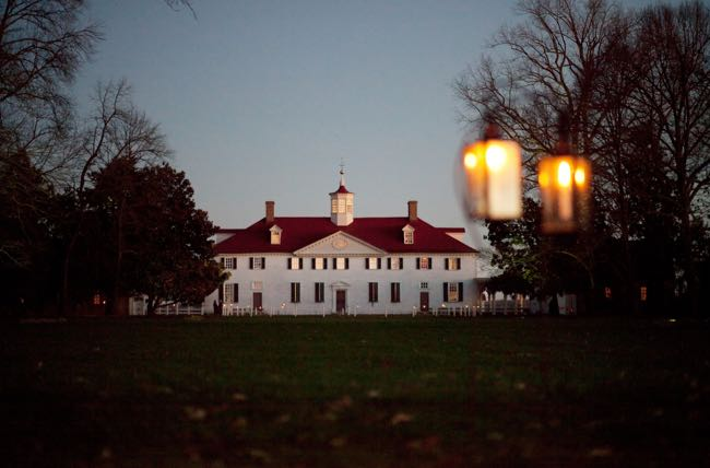Mount Vernon by Candlelight courtesy George Washington's Mount Vernon