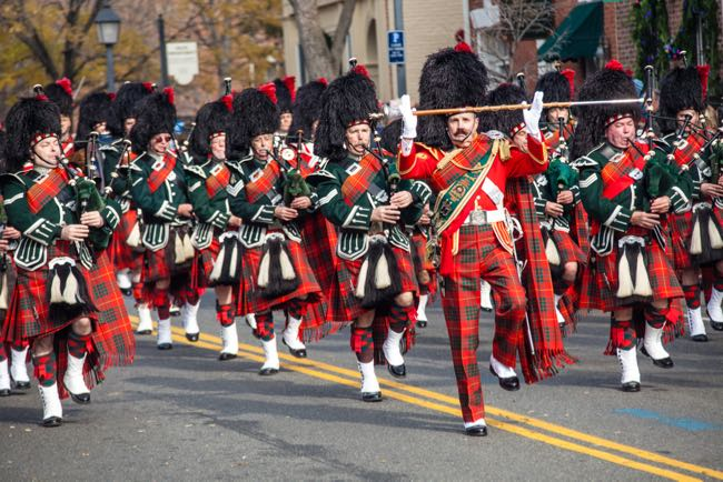 Scottish Walk Weekend, one of 12 holiday favorites from Northern Virginia experts that honor the season with festive parades, unique celebrations, light displays, and visits with Santa. photo: Visit Alexandria