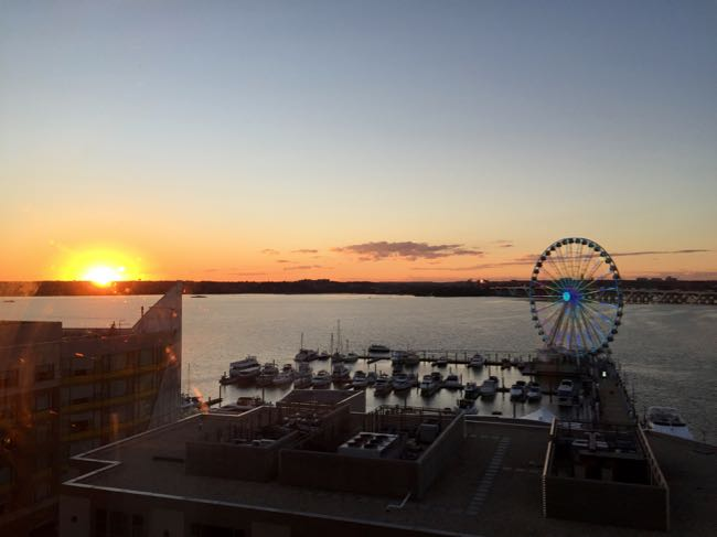 Sunset from our AC Hotel National Harbor room