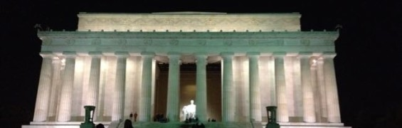 Lincoln Memorial at night, DC