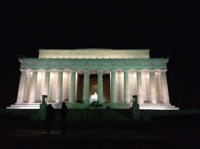 Lincoln Memorial at night, DC
