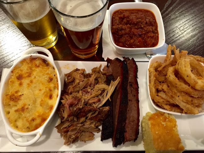 Mookie's BBQ in Great Falls, Virginia, offers delicious barbecue standards plus less common smoked meats in a comfortable, spacious restaurant with full bar.