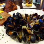 Fiona's mussels with brown bread