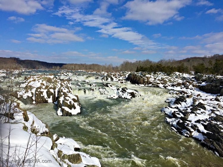 Great Falls of the Potomac from Overlook 2 Virginia side in January 2016
