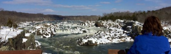 Great Falls overlook view in winter
