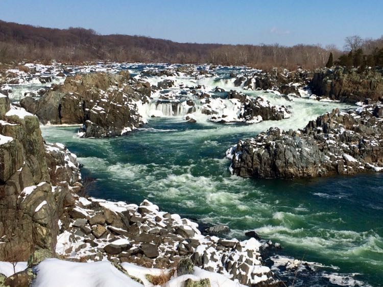 Great Falls Park is beautiful after a winter snowstorm