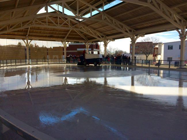 Harris Pavilion ice skating rink Manassas VA