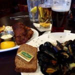 Mussells and Fish and Chips at Fiona's