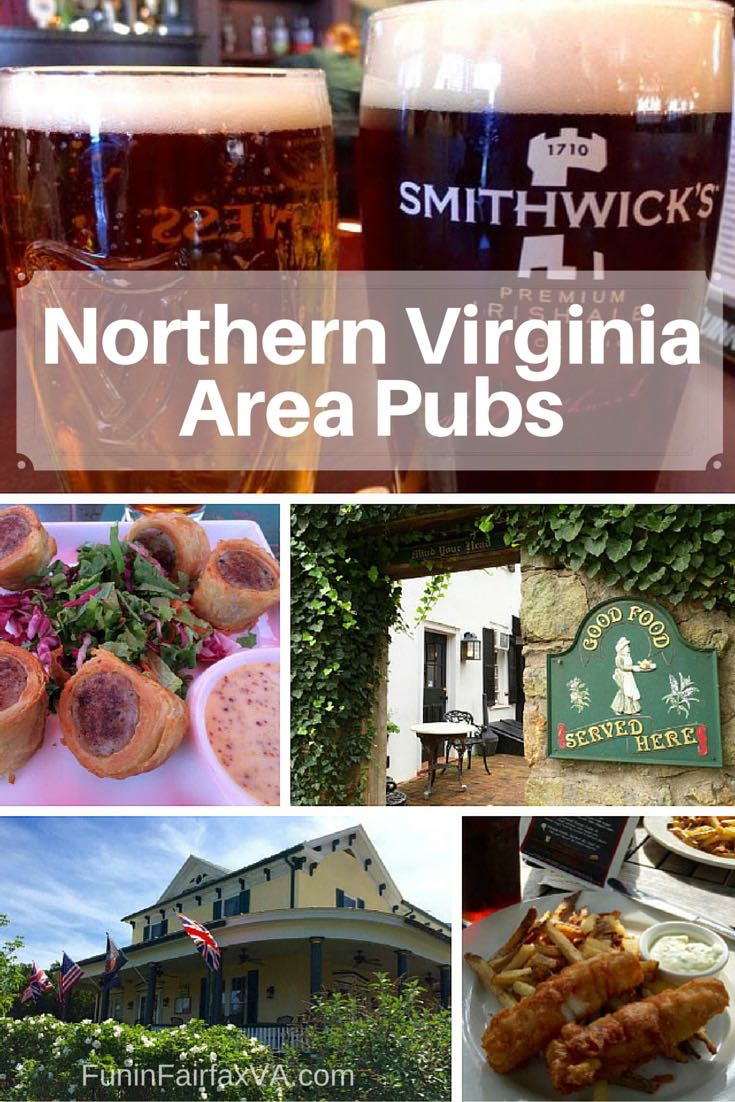 Northern Virginia Area Pubs perfect for a cozy and tasty meal near Washington DC.