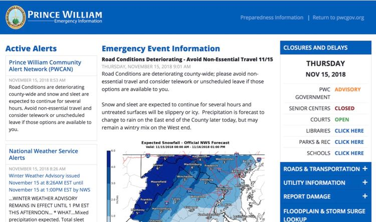 Prince Willian County Emergency Info