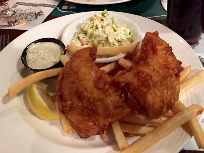 Pub favorite fish and chips