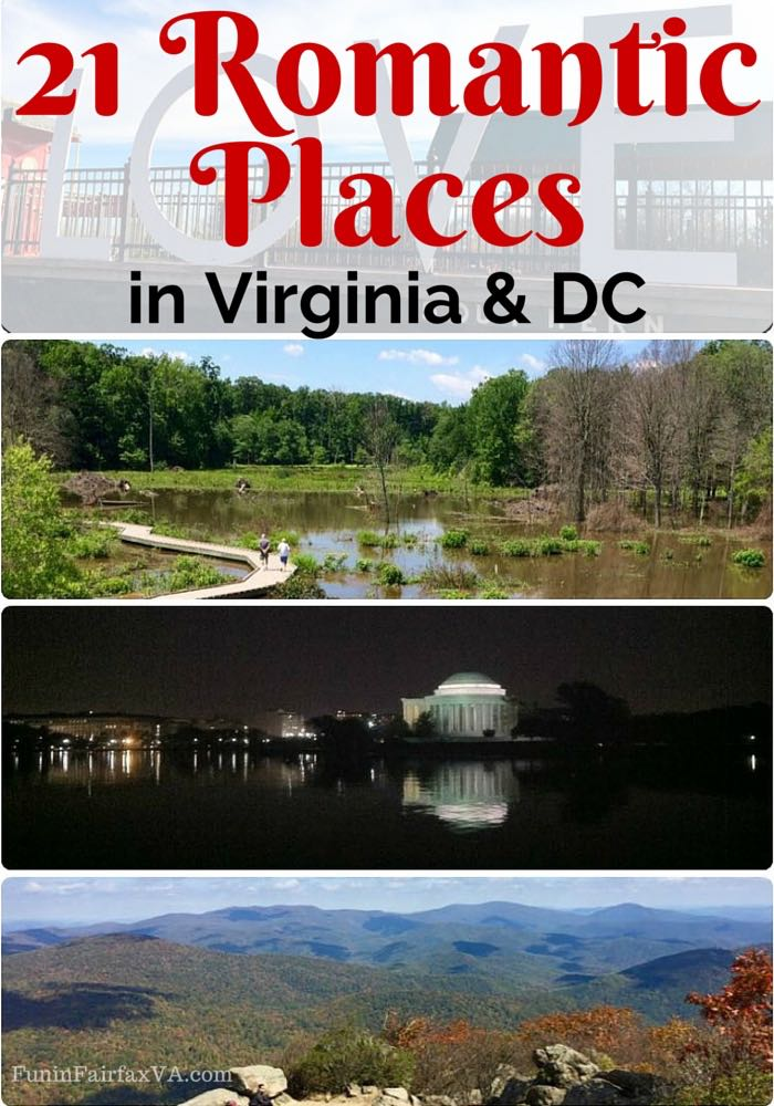 21 romantic places in virginia and dc no reservation required for Washington dc romantic weekend getaways
