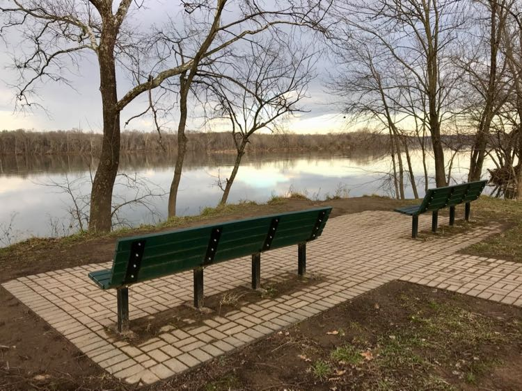 Pretty view from benches at Algonkian Regional Park in Cascades VA