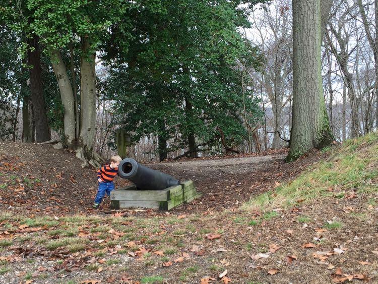 Confederate gun emplacement at Leesylvania State Park
